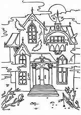Mansion Coloring Haunted Disney Getcolorings Printable Sheets Getdrawings Cartoon Colorings sketch template