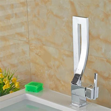 unique desing single handle waterfall basin faucet tap