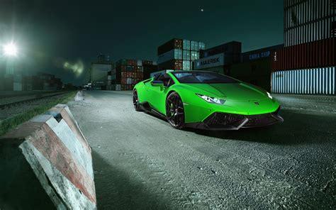 Wallpaper Lamborghini Huracan Spyder Novitec Torado