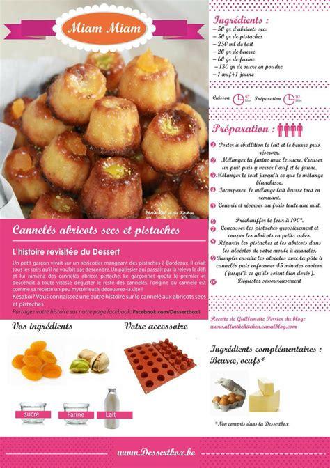 recette de tf1 cuisine cannelés abricots secs et pistaches dessertbox all in