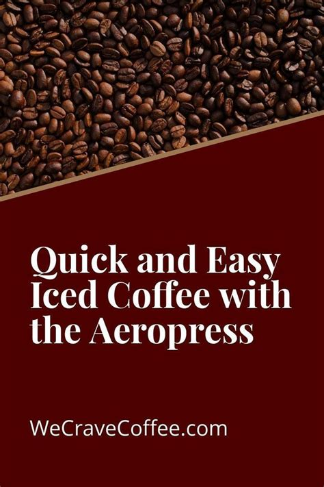Quickfix coffee, tabbimoble, new south wales, australia. Quick & Easy Iced Coffee with the Aeropress (With images)   Coffee maker with grinder, Best ...