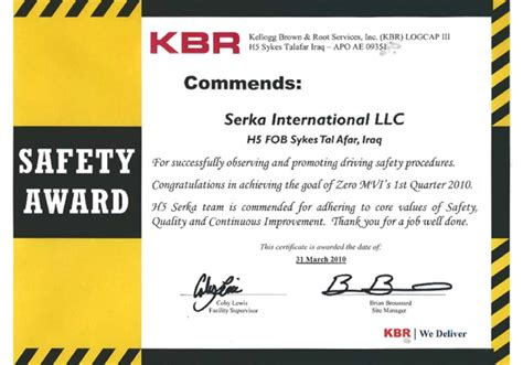 Safety Recognition Certificate Template by Safety Appreciation Certificate Baskan Idai Co