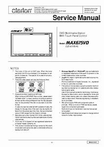 Clarion Max675vd Sm Service Manual Download  Schematics