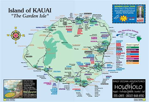 kauai island hawaii tourist map kauai hawaii mappery