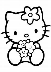 Birthday Balloons Coloring Pages Hello Kitty Png Black And White Free Hello Kitty Black