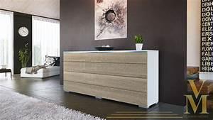 Sideboard Sand Hochglanz : sideboard kommode tv board schrank anrichte pl n wei hochglanz naturt ne ebay ~ Indierocktalk.com Haus und Dekorationen