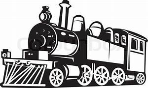 Steam train locomotive retro | Stock Vector | Colourbox