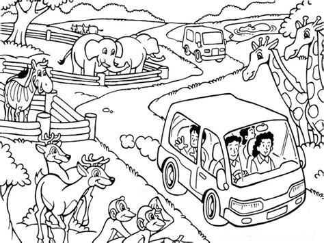 mewarnai gambar kebun binatang mari mewarnai gambar