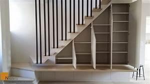 Placard Escalier : escalier sur mesure garde corps placard sous escalier rangement sous escalier ~ Carolinahurricanesstore.com Idées de Décoration