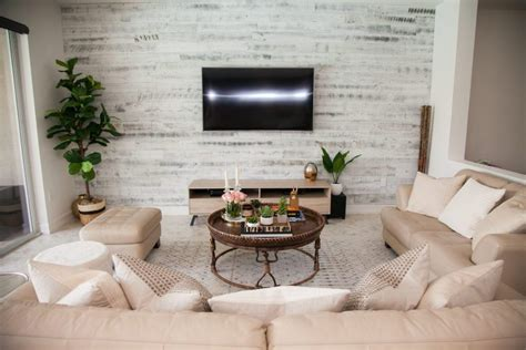 Modern Chic Living Room Ideas by Transitional Living Room Stikwood Accent Wall