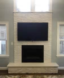 White, Stone, Fireplace