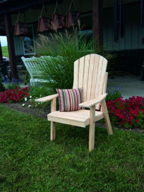 outdoor upright adirondack chair unfinished pine amish
