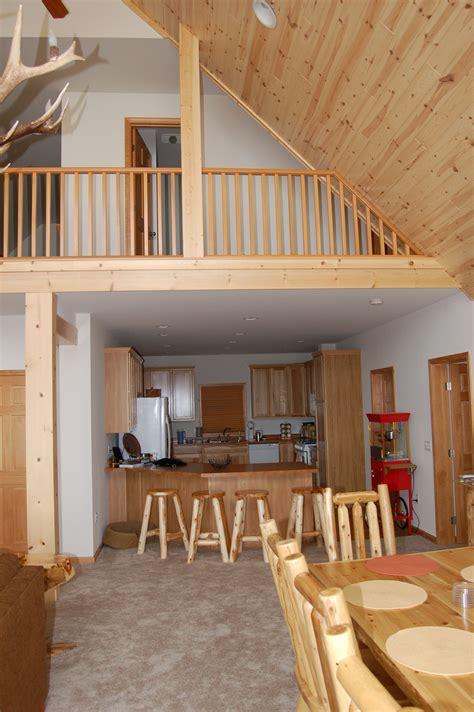 interior photo  chalet style modular home  tru vault