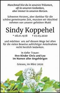 Super Sonntag Wittenberg : traueranzeigen von sindy koppehel ~ Watch28wear.com Haus und Dekorationen