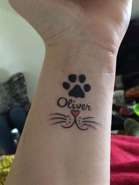 memorial cat tattoo heart   nose awesome