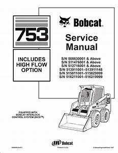 Bobcat 753 Skid Steer Loader Service Repair Workshop Manual 515830001