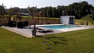 piscine avec terrasse en bois amenagement mineraux With lovely deco autour d une piscine 3 piscine hors sol bois