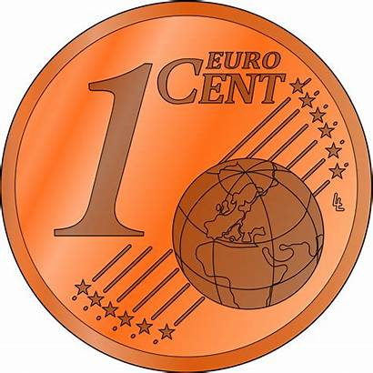 Cent Clipart Euro Penny Clip Coin Cliparts