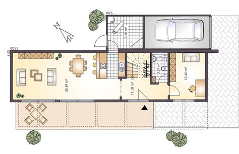 Grundriss Haus Schmales Grundstück by Schmales Reihenhaus Grundriss