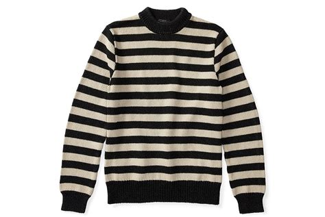 Rrl Indigo Striped Cotton Sweater