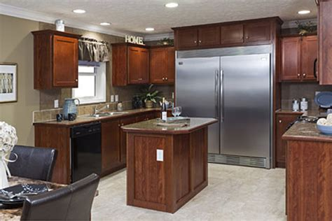 refrigerator kitchen cabinets vanderburgh 28 x 68 1813 sqft mobile home factory expo 1813