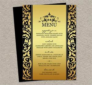 dinner party menu template With free menu templates for dinner party
