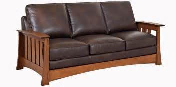 Stickley Furniture Leather Sofas by Arts And Crafts Style Leather Sofa Furniture Upholstery