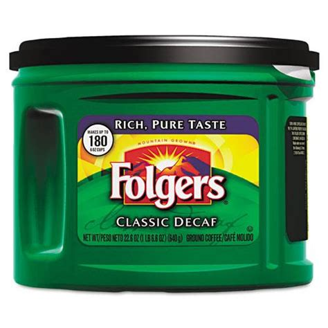 I started drinking 3 years ago by a friend who worked at the. Folgers Classic Roast Decaf Ground Coffee 6 22-point-.6oz Cans | Coffee