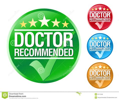 Doctor Recommend Icons Stock Vector Image Of Buyer, Commitment 8111349