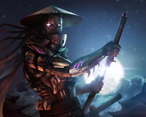 Warrior Robot Samurai Moon Sabre Fantasy rpbot cyborg sci