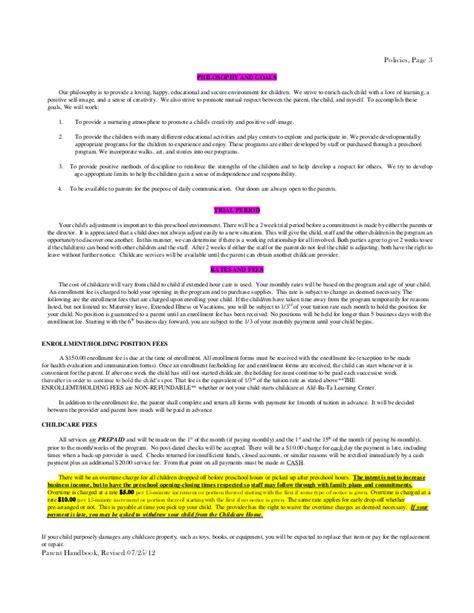 policy handbook preschool 434 | policy handbook preschool 3 638