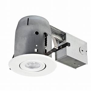 Recessed shower light ic rated : Globe electric in white led ic rated swivel spotlight