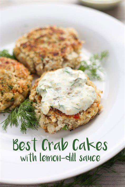 The taste of crab isn't particularly strong. Best Crab Cakes with Lemon-Dill Sauce - | 3 Scoops of Sugar | Recipe | Dill sauce, Crab cakes ...
