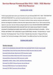 Service Manual Kenwood Ddx 7015 7025 7035 Mon By