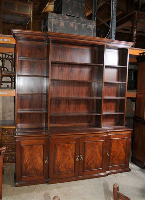 Bookcases And Cabinets xl breakfront open bookcase cabinet bookcases