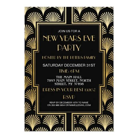 1920's New Years Eve Gatsby Party Black & Gold Fan