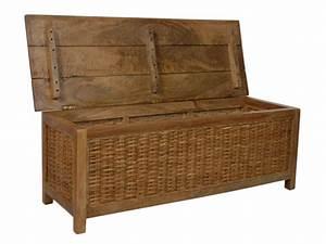 Coffre En Rotin : malle en bois de manguier et rotin pratique et design woma ~ Teatrodelosmanantiales.com Idées de Décoration