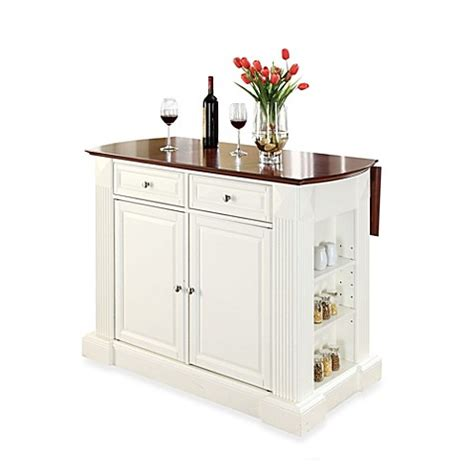 island kitchen and bath crosley furniture hardwood drop leaf breakfast bar kitchen 9058