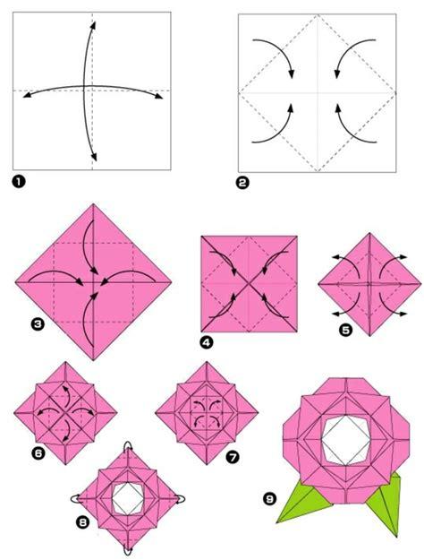 Origami Rose Steps