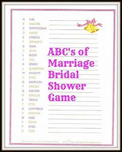 freebie the abc39s of marriage bridal shower game christ With wedding shower games funny
