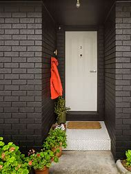 Black Painted Exterior Brick House