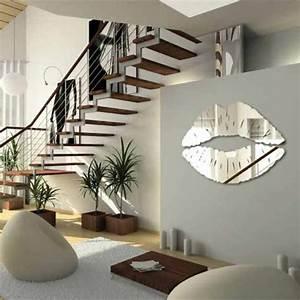 le miroir decoratif en 50 photos magnifiques With deco salon avec escalier