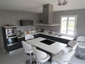 Couloir Gris Et Blanc : cuisines archives cuisines couloir ~ Melissatoandfro.com Idées de Décoration
