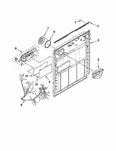 Inner Door Parts Diagram  U0026 Parts List For Model Wdt710paym0 Whirlpool