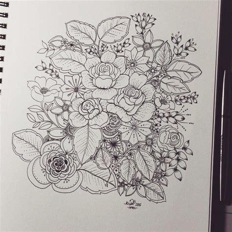 roses  flowers zen doodle zentangle inspiration