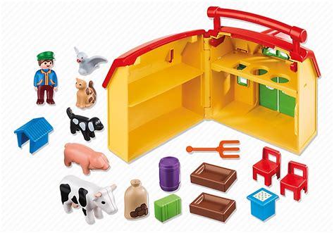 ferme transportable playmobil ferme transportable et animaux playmobil 1 2 3 r 233 f 6962