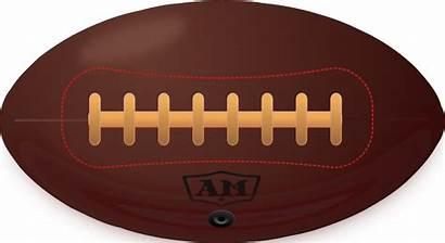 Football American Clipart Ball Clip Vector Drawing