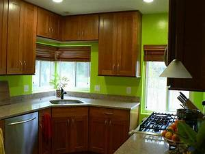 green kitchen wall colors kitchentoday With kitchen colors with white cabinets with hanging art on walls