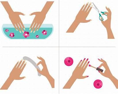 Manicure Clipart Pedicure Transparent Steps Webstockreview