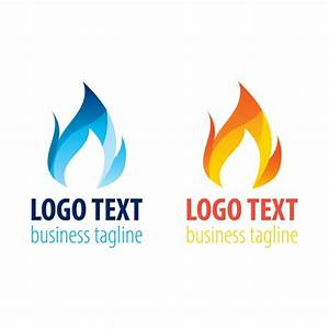 Two Flame Logo Templates Vector | Free Download
